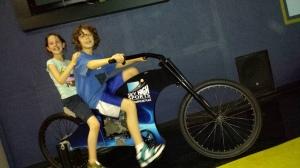dom and sophia on bike