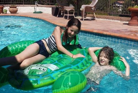 kids in pool